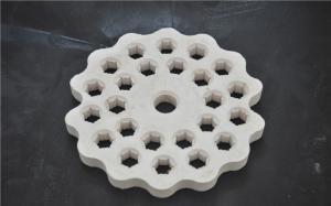 China Alumina Ceramic Disc Refractory Kiln Furniture Wear Resistant High Density on sale