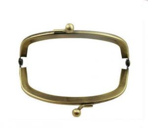China Customized Curved Shape Metal Purse Frames , Antique Clutch Purse Bag Frame on sale