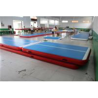 Blue TopInflatable Air Tumble Track For Gym Cheerleading 20cm Height