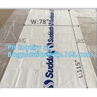 """pe bag pallet cover plastic bag sqaure bottom bag, 54 x 44 x 96"""" 1 Mil ldpe Clear Pallet Covers, top covers clear plasti"""