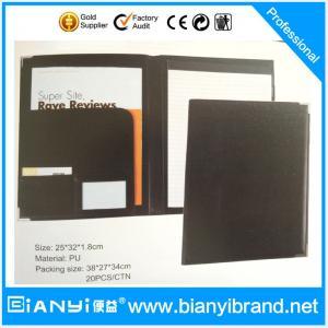 China A4 PU leather Portfolio file folder ,A4 PVC document folder,credit card folder on sale