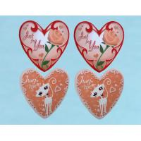 Heart Shape Notebook Self Adhesive Sticker With Cartoon Patterns