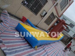 China rent inflatable water slides With 12m x 1.4m x 2.5m air tight version on sale
