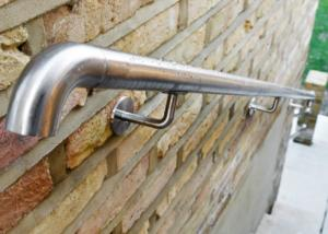 China Stable Safe Stainless Steel Wall Mounted Handrail For Construction Building on sale