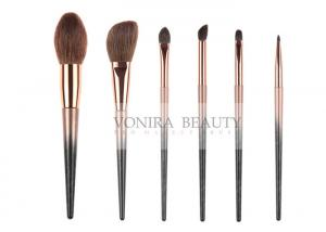 China Colorful Must Have Natural Hair Makeup Brushes Collection 6 Pcs on sale