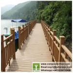 New Design Anti-rot Outdoor WPC Garden Fence Wood Plastic Composite WPC Handrail