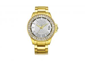 China OEM Men Quartz Stainless Steel Designer Watches Solid Band IP Gold Plating on sale