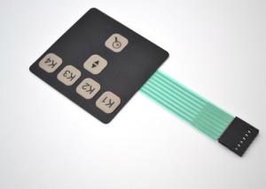 China Embossed Tactile Metal DomeMembrane Switch Keyboard With Male Connector Cable on sale