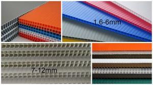 China 2440x1220mm 3mm 4mm polypropylene corrugated plastic sheet , Flute PP Sheet on sale