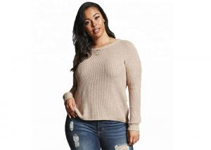 China Europe Style Oversized Sweaters For Women , Plus Size Womens Clothing For Spring on sale