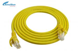 China Yellow Ethernet Network Patch Cable , Internet Ethernet Patch Cable Wiring on sale