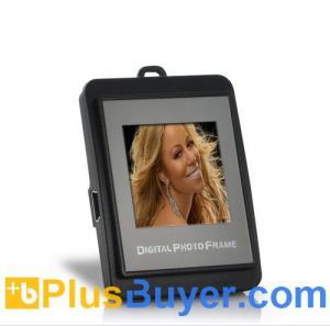 China 1.5 Inch Keychain Digital Photo Frame (Black + Silver) on sale