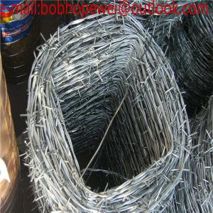 China 12# galvanized military barbed wire, barbed wire length per roll/barbed wire roll price fence/barbed wire factory price on sale