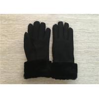 Women Sheepskin Shearling Gloves 100% Hand sewing lambswool lining cuff