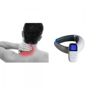 China Electric Impulse Heating Neck And Body EMS Wireless Neck Massager on sale