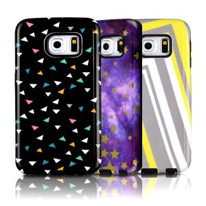 China Plastic Combo Layer TPU & Hard PC Shockproof Case For Galaxy S6 Edge With Dust Plug on sale