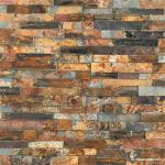 Natural stone S1120 Rock Face Finished Slate Ledge Panel, Cheap Rust Slate Wall Cladding