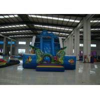 Funny Sea Theme Giant Inflatable Water Slide , Kids Inflatable Water Slide 11 X 5.5 X 7m