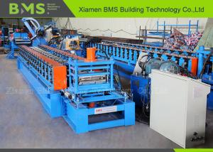 China Storage Shelf Roll Forming Machine , Roll Forming Equipment With Schneider PLC on sale
