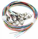 G652 G657 Fiber Optic Pigtail  12 Cores Simplex 9/125 Single Mode  PVC LSZH  Jacket