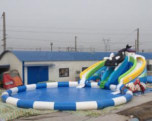 China Best price summer fun kids games killer whale design inflatable water park with free air blower on sale