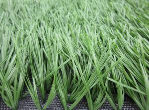 China Green Football Artificial Grass For Soccer Court With PE Monofilament Yarn supplier