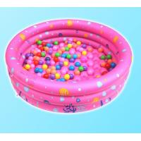 Dots Printed Inflatable Above Ground Pools , Blow Up Swimming Pools With 3 Rings Circle