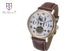 China Genuine leather strap stainless Automatic Mechanical Watch ROHS CE on sale