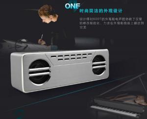 China Super Bass Outside 900mAh Aluminium Bluetooth Speaker For Car on sale