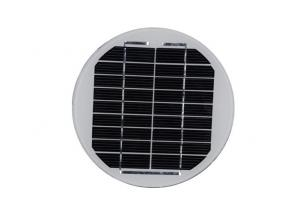 China Round Shaped Solar Energy Panels Monocrystalline Silicon Material Without Frame on sale