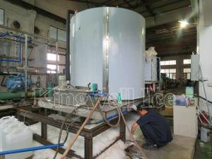 China Big Capacity Seawater Flake Ice Machine For Fish And Seafood High Speed on sale