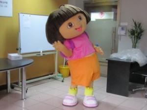 Quality Custom Girl Cartoon Character Dora Mascot Costumes for sale