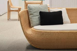 China Handmade Round Rattan Furniture with Aluminum Frame by Clover Lifestyle on sale
