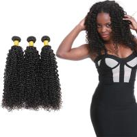 China 100 Unprocessed Virgin Curly Hair Bundles Natural Hair Line No Shedding on sale