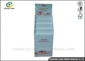 China Gray Color Cardboard Display Stands 4 Color Offset Printing Free Samples on sale