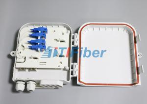 China SC 8 Port Waterproof Fiber Optic Distribution Box for FTTH Networks on sale