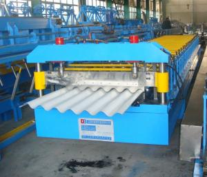 China 380V Sandwich Panel Line Corrugated Roof Panel Roll Forming Machine With Hydraulic Control System on sale