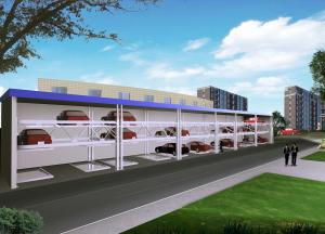 China Pallet Parking System/ Semi Automated Parking System / Lifting-sliding Pit Car Parking System QDSH-PJT on sale