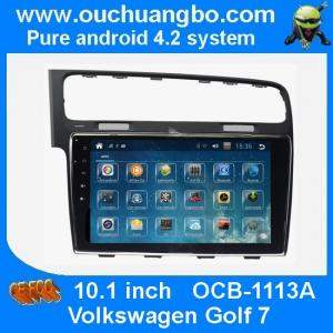 China Ouchuangbo autoradio DVD GPS stereo multimedia android 4.2 VW golf 7 support 4 core canbus aux on sale