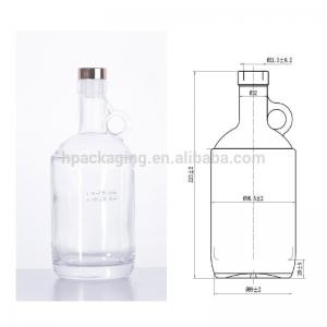 China high-class 750ml extra flint glass wine bottle glass alcohol bottle china manufacturer on sale