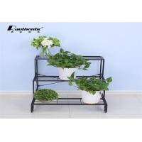 Wrought iron flower multilayer floor type removable three layer simple, green space style flower pot storage rack