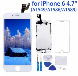 China 1334x750P Iphone 6 White LCD Screen High Durability Capacitive Touch Type on sale