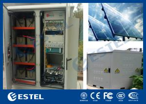 China Generator Compartment Base Station Cabinet With Solar Controller / Solar Cell Panel on sale