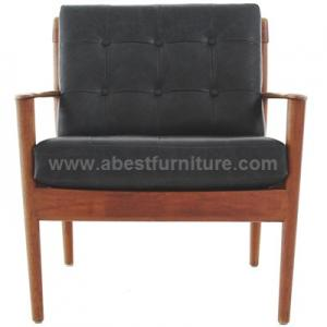 China replica modern classic furniture Grete Jalk Danish leather armchair on sale