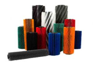 China Custom Size Industrial Nylon Brush Tufted Rollers PP Materials Long Life Span on sale