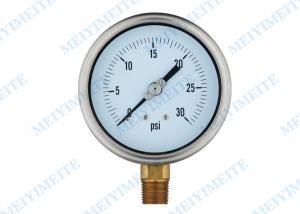 China 4 Inch tube manometer liquid pressure gauge , electric contact pressure gauges on sale