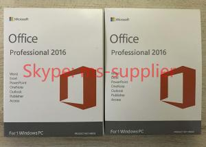 China DVD / Key Card Computer System Softwares , Microsoft Office 2016 Pro Plus 64 Bit on sale