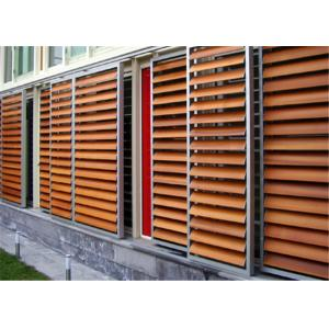 China External Aluminium Louvres , Aluminium Shade Screens With Artificial Solid Surface on sale