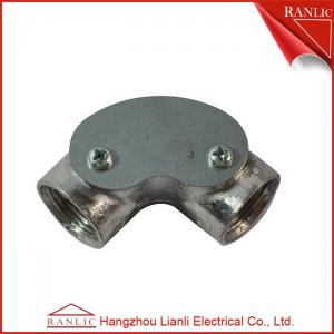 China Inspection Elbow Conduit Terminal Box Aluminum Conduit Fittings / Pre - Galvanized Finish on sale