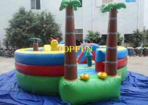 China Plato 0.55mm PVC Tarpaulin Family Inflatable Tree House Jumping Castle on sale
